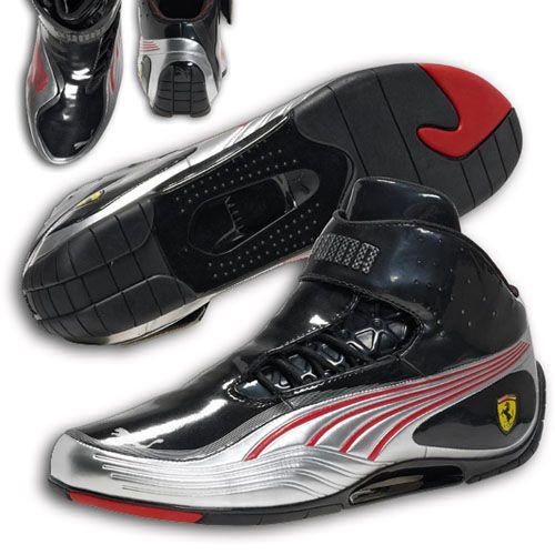 d7dae36c84bc Puma Ferrari Super Light Tech Mid SF Shoes Black Silver