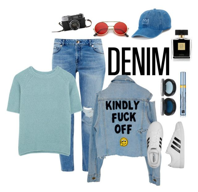 """denim"" by raios-of-sun on Polyvore featuring Ted Baker, MaxMara, Estée Lauder, adidas, Avon and SO"