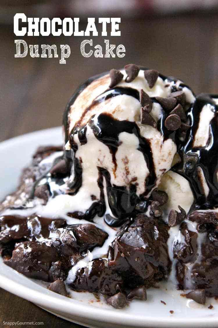 Easy Chocolate Dump Cake (5 ingredients)