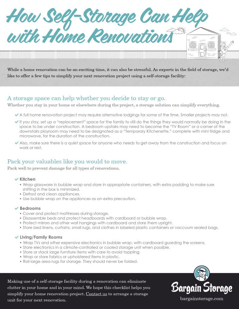 Storage tips for home renovations home organization tips
