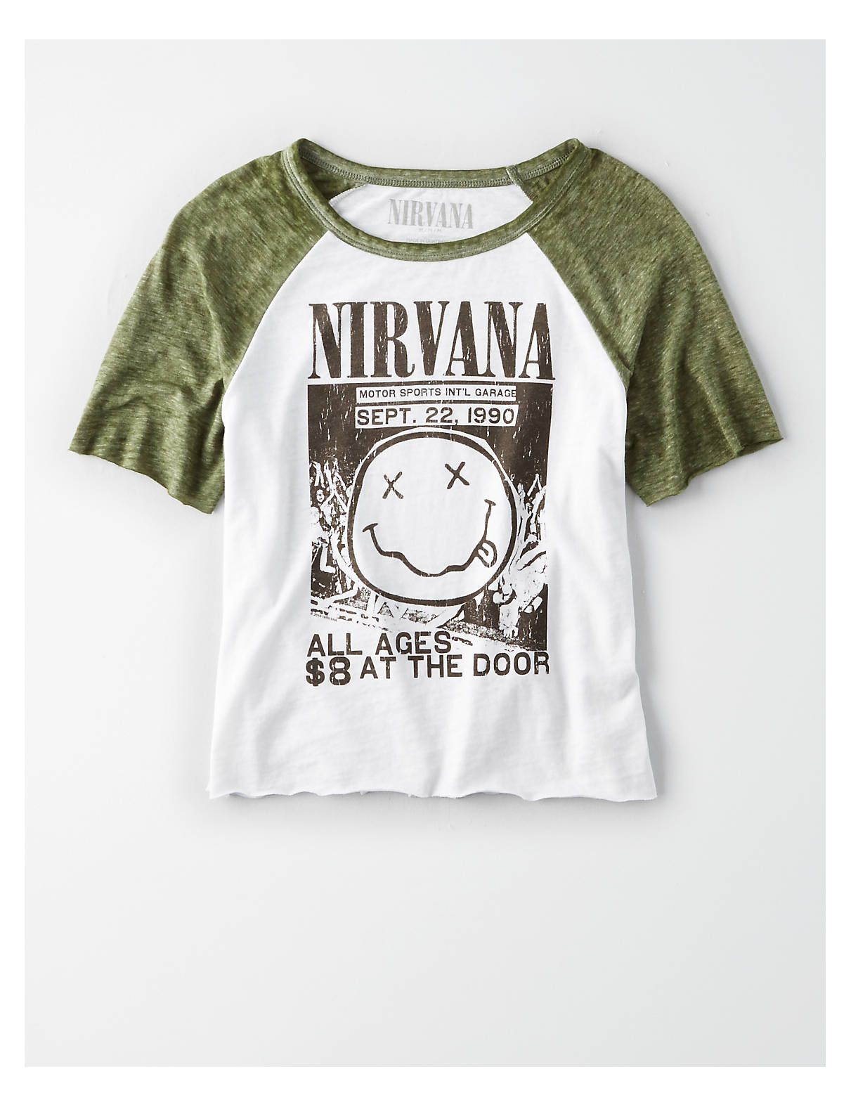 08e65bf29 AE Nirvana Graphic Tee, Olive | American Eagle Outfitters. American Eagle  Outfitters Men's & Women's Clothing ...