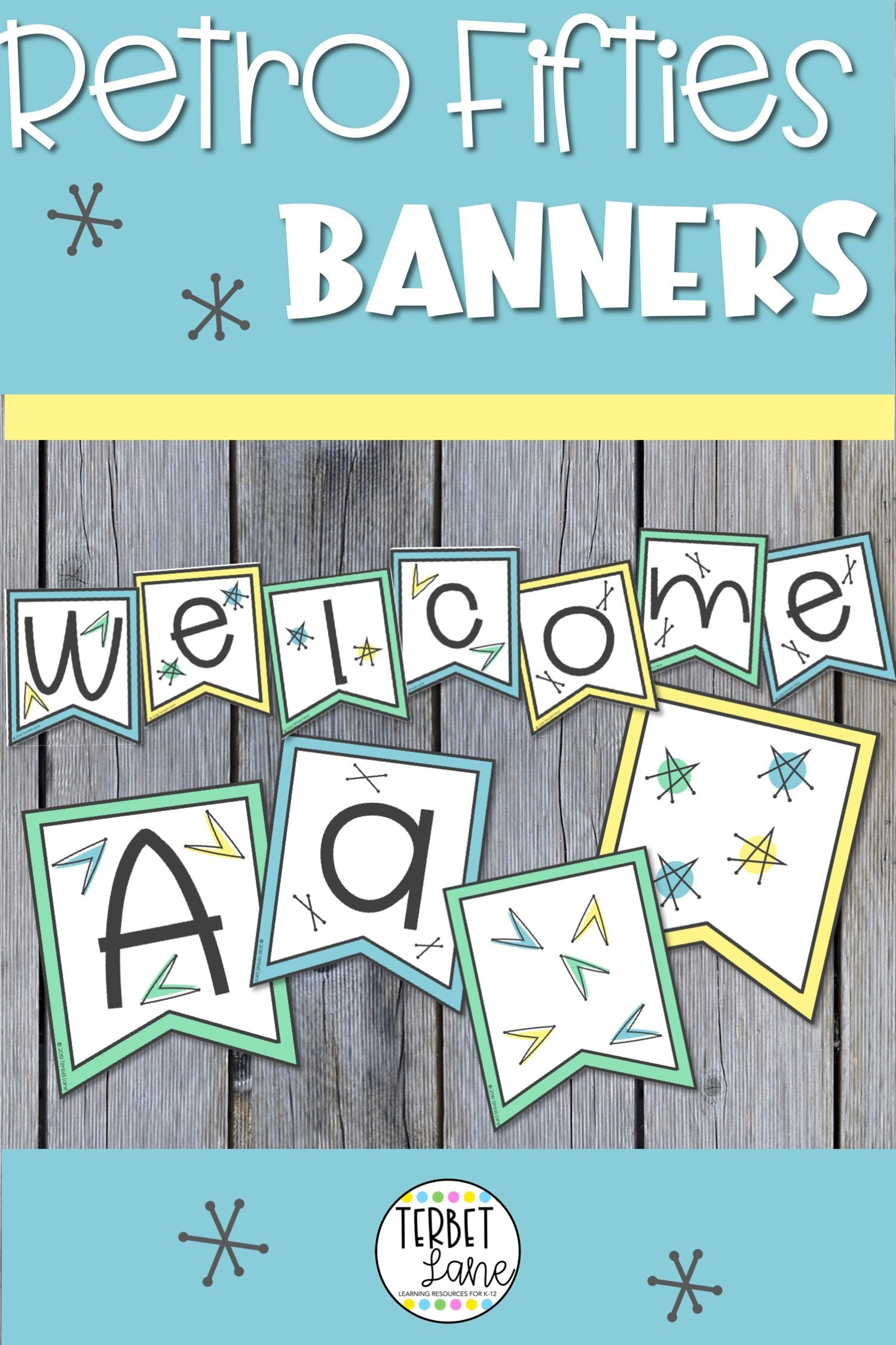Fifties Theme Bulletin Board Letter Banners