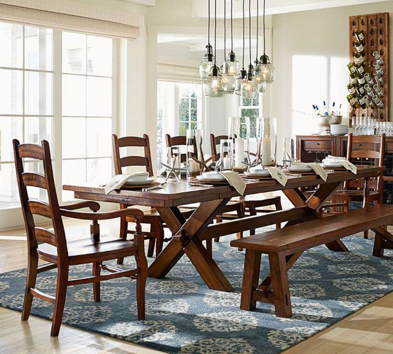 10 Tapis Qui Volent La Vedette Pottery Barn Table Farmhouse Dining Dining Room Design