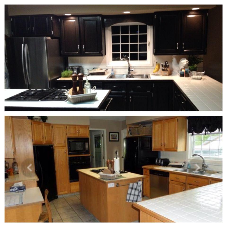 Kitchen Cabinet Redo...thanks Saman Stain!