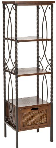 Safavieh American Home Collection Selsey Antiqued Pewter and Dark Walnut 1-Drawer Etagere Safavieh http://www.amazon.com/dp/B0057Z06HA/ref=cm_sw_r_pi_dp_NF3owb0R4ERQ8