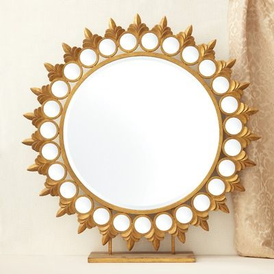 """Tozai Sun Mirror on Pedestal $500  Stunning, the functionality is unlike the others, on a pedestal - not a wall mirror 45.5"""" H x 44"""" W"""