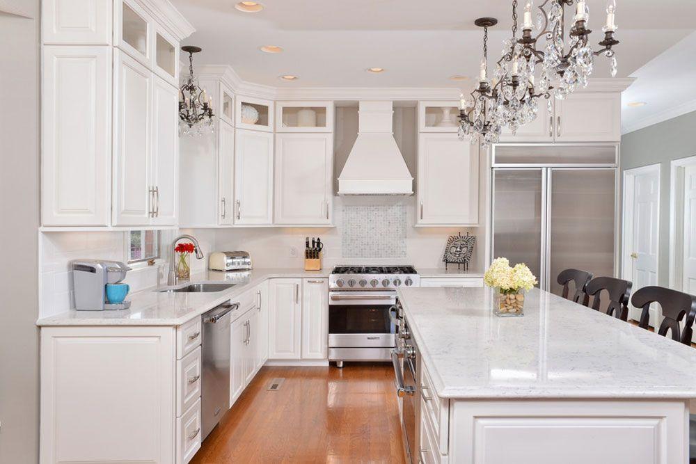 sparkling white quartz countertop for your kitchen design with images quartz kitchen on kitchen island ideas white quartz id=75341