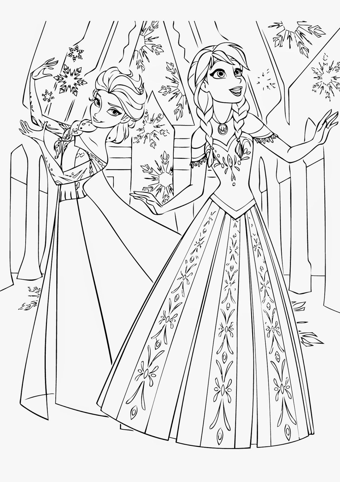 Frozen Coloring Pages Free Craft Pinterest Frozen Coloring And