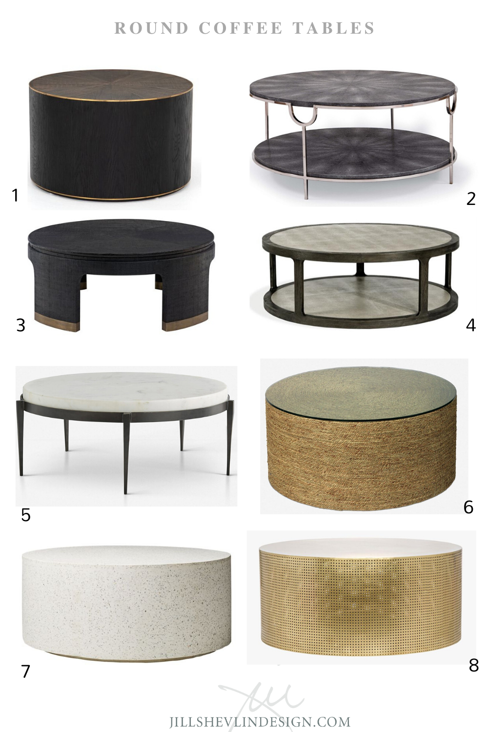 Shop Coffee Cocktail Tables Round Coffee Table Modern Coffee Table Coffee Table Farmhouse [ 1500 x 1000 Pixel ]