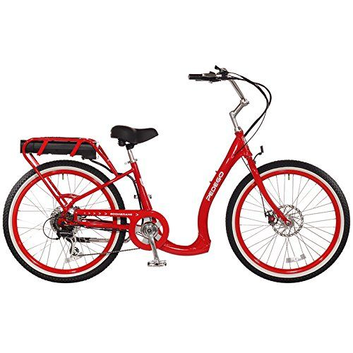 Pedego Boomerang Plus Red Ebike Battery Cheap Electric Bike