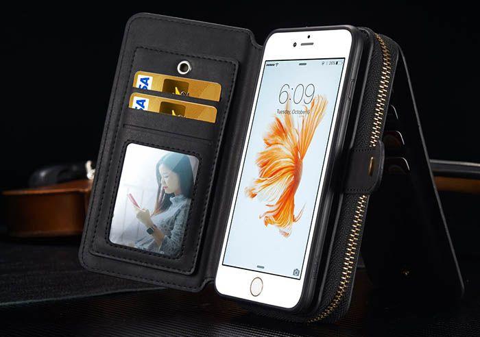 new arrival ee5dd bc4ee BRG iPhone 6S Plus/ 6 Plus Multi-functional 2 in 1 Zipper Wallet ...