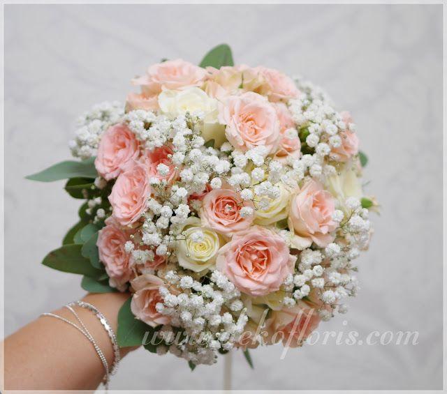 Dekoracje I Bukiety Slubne Opolskie Romantyczny Rozowy Bukiet Slubny Z Roz I Gipsowki Opolskie Flower Bouquet Wedding Wedding Bouquets Wedding Flowers