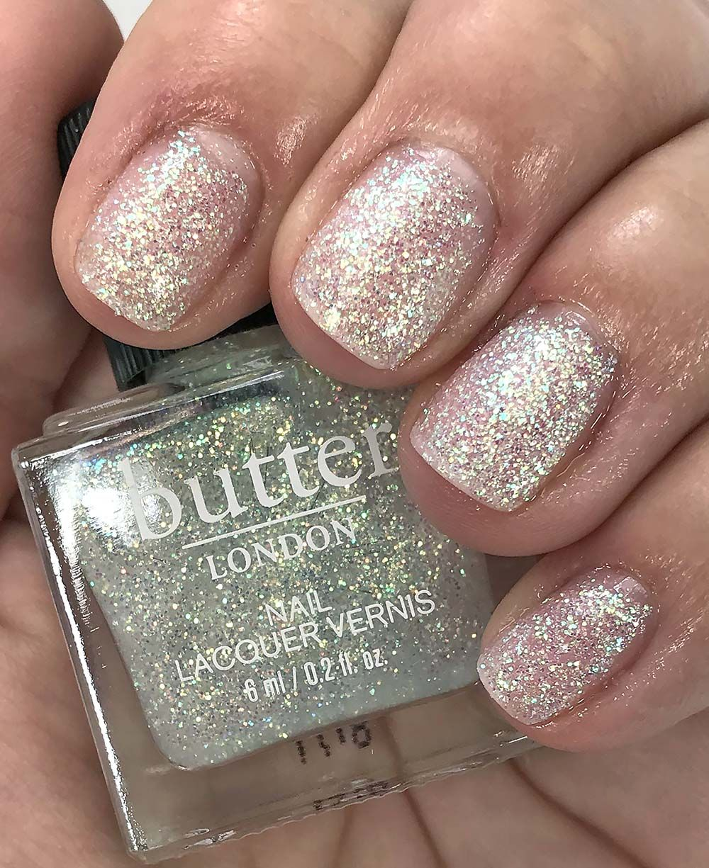 Butter London Glazen Peel-Off Glitter Nail Polish Review, Swatches + ...