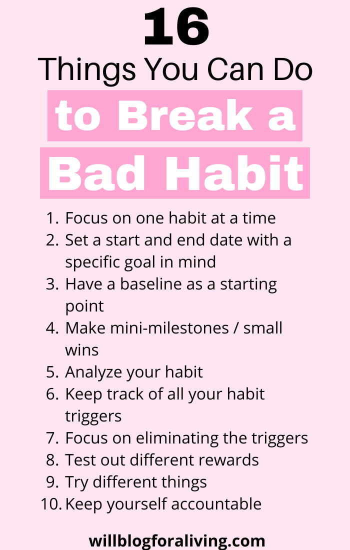 16 Things You Can Do to Break a Bad Habit