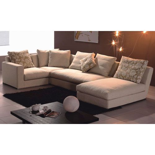 Cream Fabric Sectional Sofa Tosh Furniture Sofas Sectionals Living Room