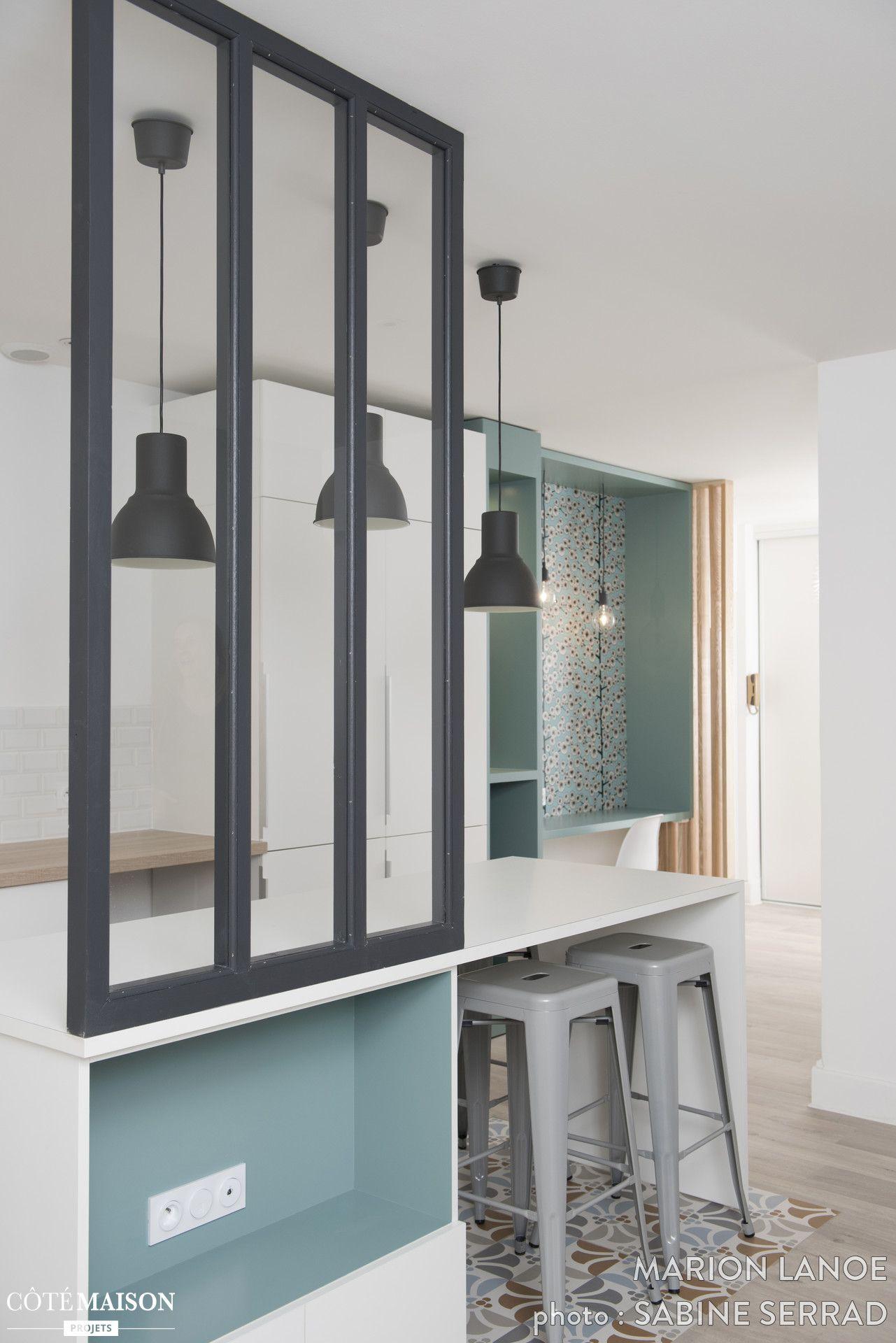 La cuisine ouverte sur le salon offre voir une belle verri re d 39 int rieur home sweet home - Separation cuisine ouverte ...