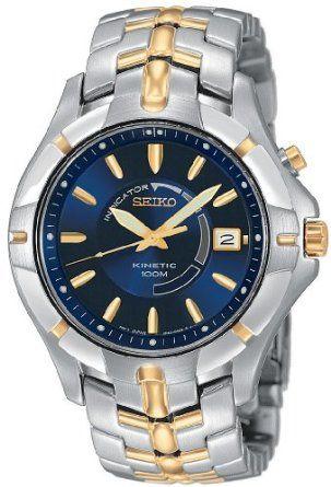 Amazon.com: Seiko Men's SKA402 Kinetic Two-Tone Watch: Seiko: Watches