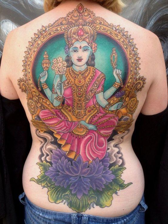 Tattoo Of Goddess Lakshmi Beautiful Ouch Melhores Tatuagens Tatuagem Tatoo