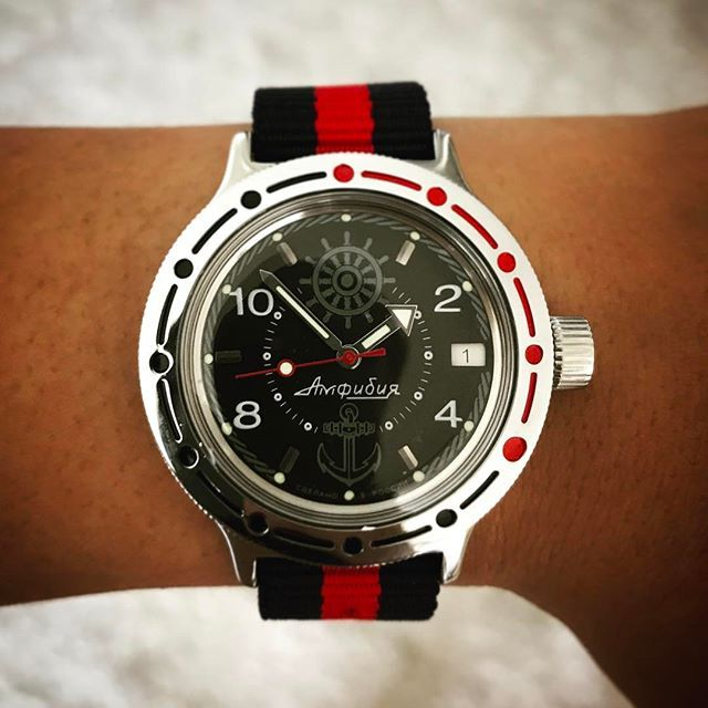 From Russia with Love! The Vostok Amphibia. Super happy with its funky  esthetic  vostokamphibia  vostok  fromrussia  ussrwatch  watchnerd   watchmania ... 8bb6f49b32