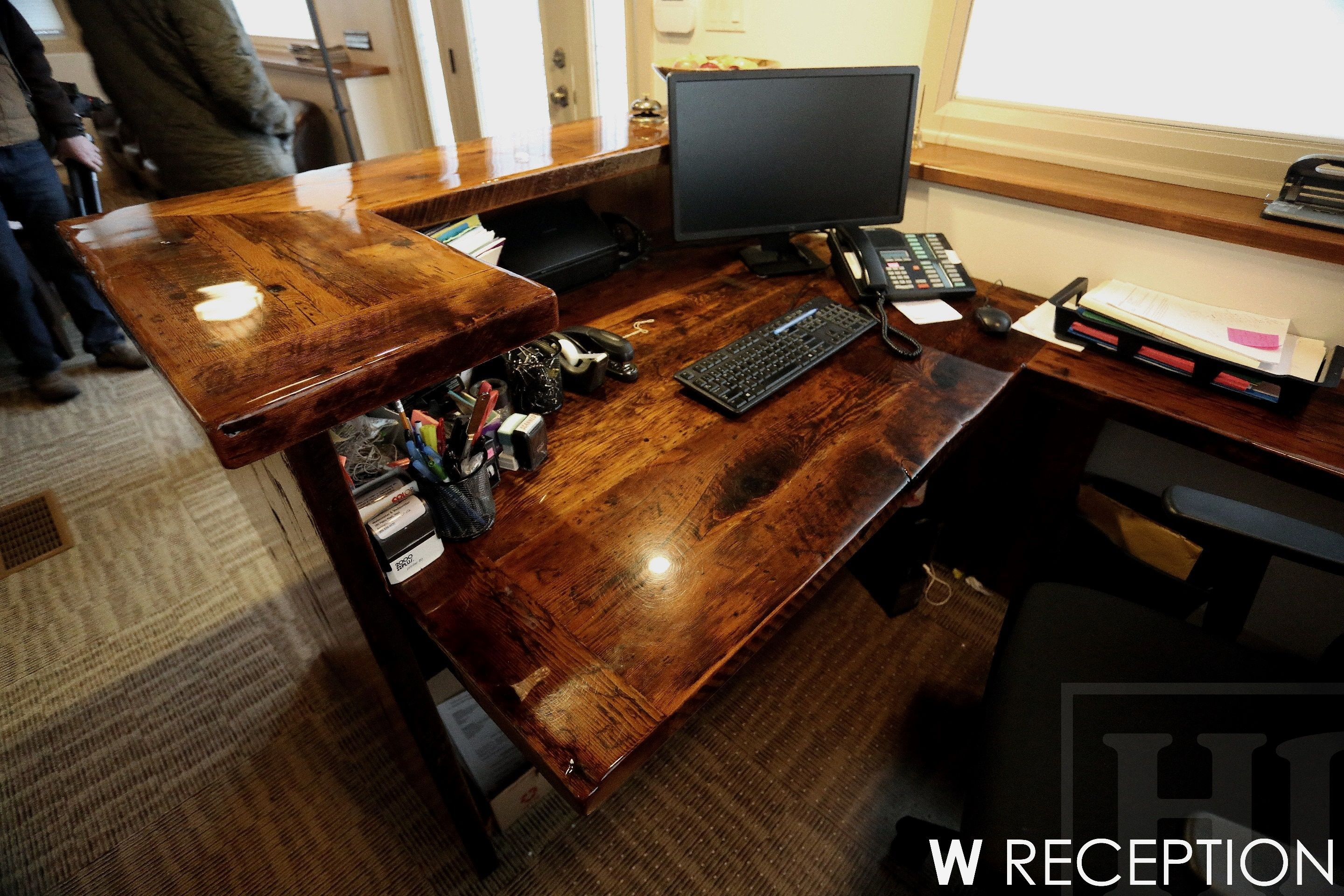top artistry reclaimed and base superb cherry metal desk wood