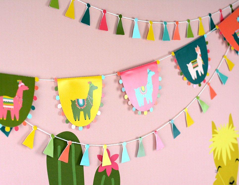Cactus and llama party llama birthday 1st birthday