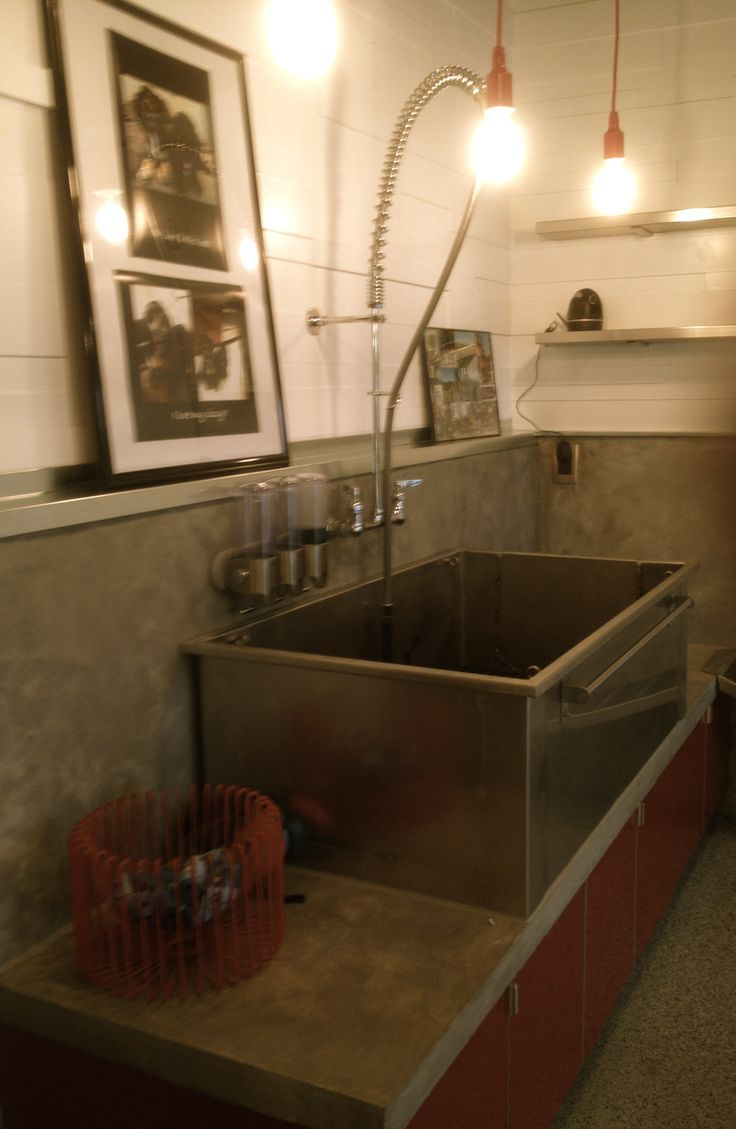 Dog Wash With Pre Rinse Faucet Laundry Room Pinterest