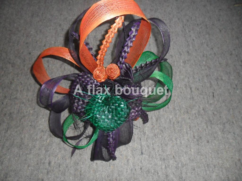 A flax bouquet- arrangement.