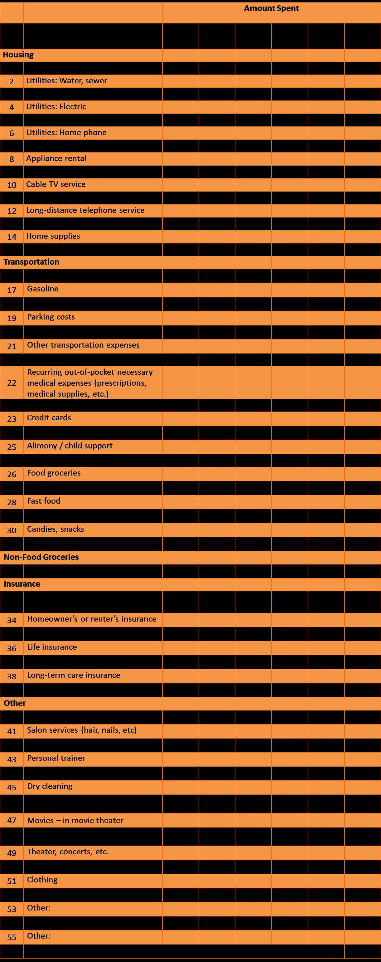 Monthly Expense Sheet Monthly Expense Sheet Expense Sheet Budgeting