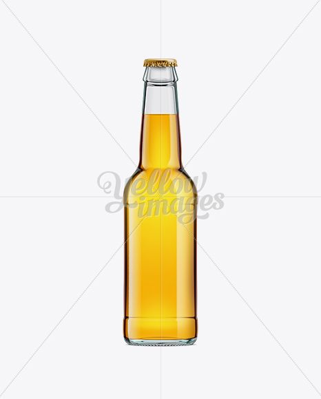 Download 330ml Clear Glass Bottle With Gold Beer Mockup In Bottle Mockups On Yellow Images Object Mockups Beer Bottle Template Bottle Mockup Glass Bottles PSD Mockup Templates