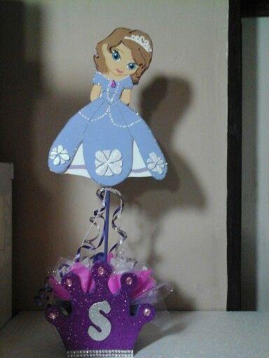 Centro de mesa princesa sofía...
