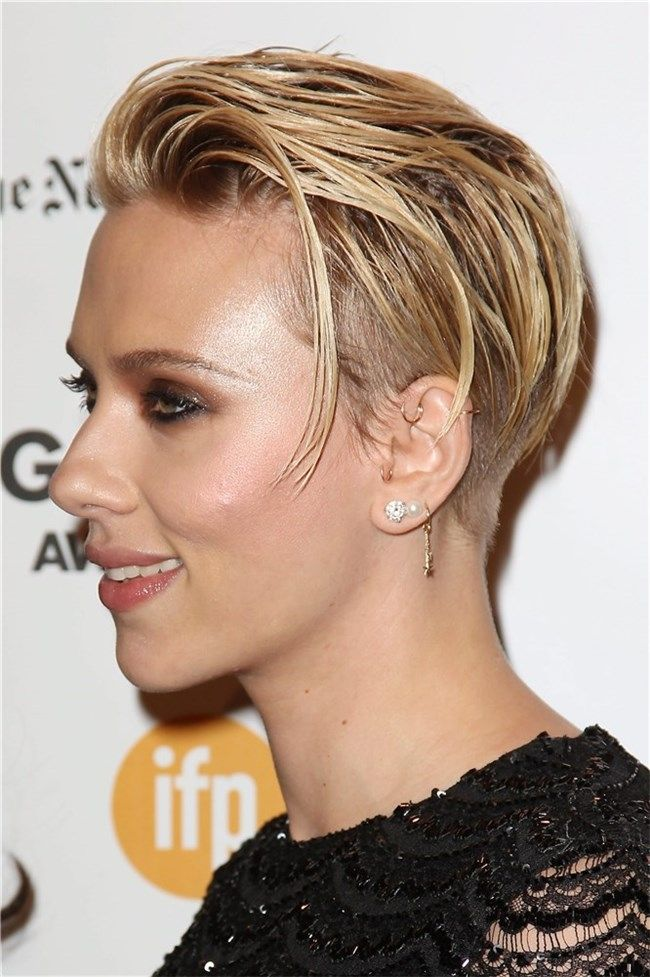 Un nuevo look corte pixie o Scarlett Johansson pixie cut Pinterest