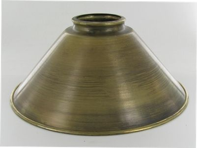 Lamp parts lighting parts lamp glass and chandelier parts spun brass cone shade