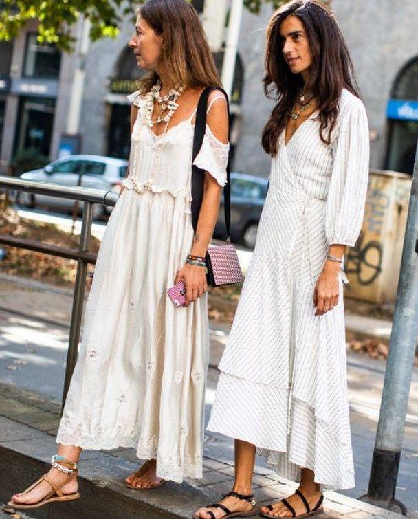 8b98845a4ba8a Rahat ve şık 2019 yazlık beyaz elbiseler | Pembe Şeker Moda Blogu ...