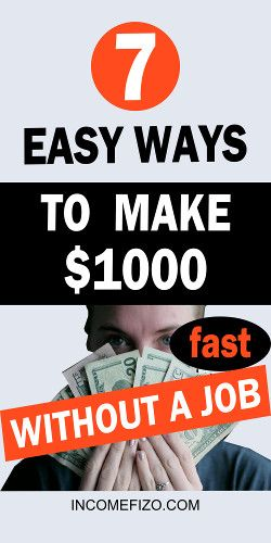7 Easy Ways to Make $1000 online without a Job Extra Cash Ideas
