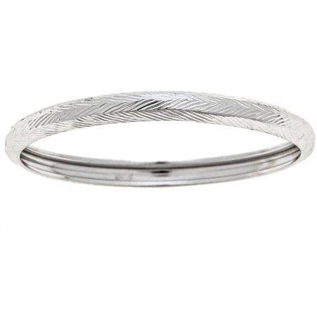 5645615dd24 10kt White Gold Diamond-Cut Thumb Ring, Size 10, Women's, Metal Type ...