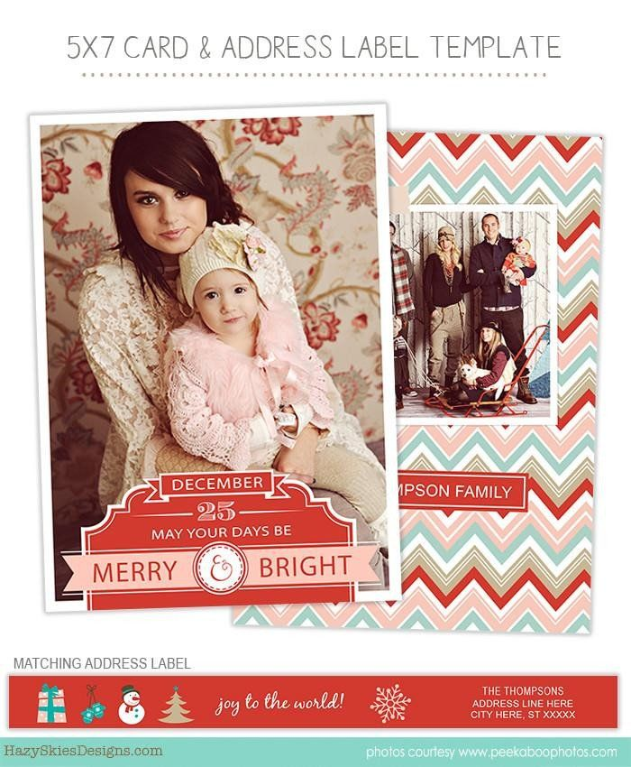 Christmas Card Templates for Photographers Awesome