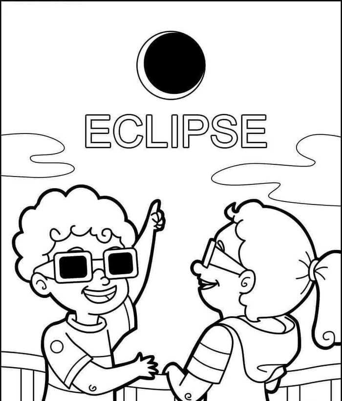 Eclipse Coloring Pages (Solar And Lunar)