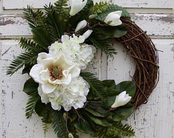 Photo of Straw Hat Wreath, Mother's Day Wreath, Purple Wreath, Romantic Wreath, Spring Wreath, Summer Wreath, Mother's Day Gift, Nest Wreath