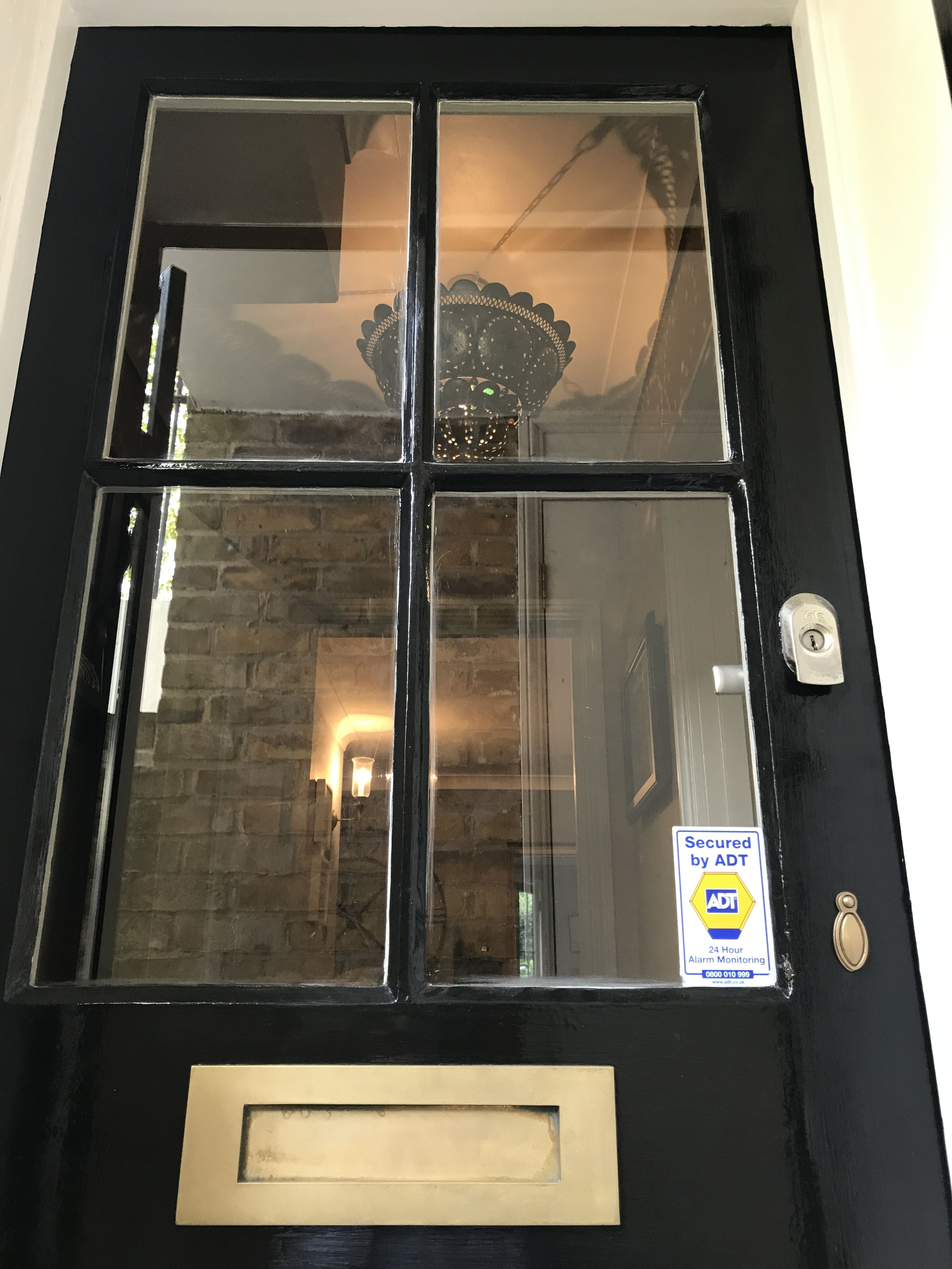 Best Front Door Painted In Farrow And Ball Pitch Black Full 400 x 300