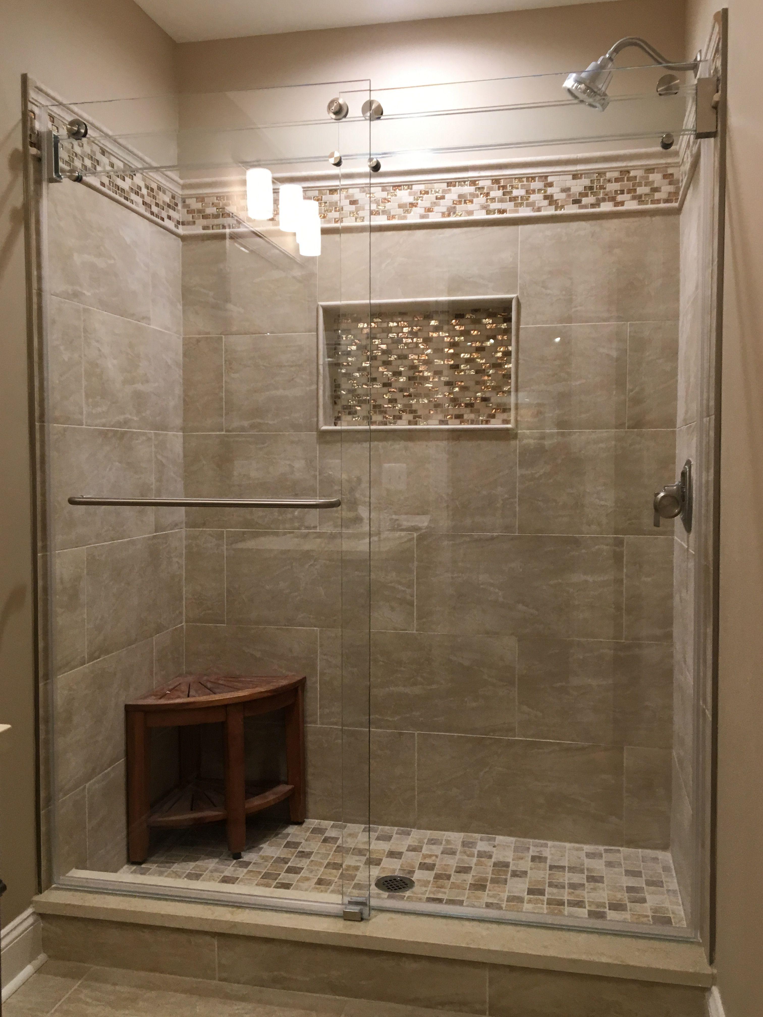 Sliding Barn Door All Glass Shower Shower Doors Frameless