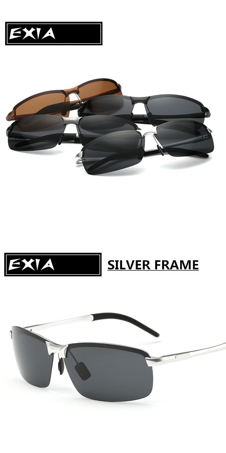 aa30b95be8 Silver Alloy Frame Polarized Sungasses Driver Men EXIA OPTICAL KD-3043  Series
