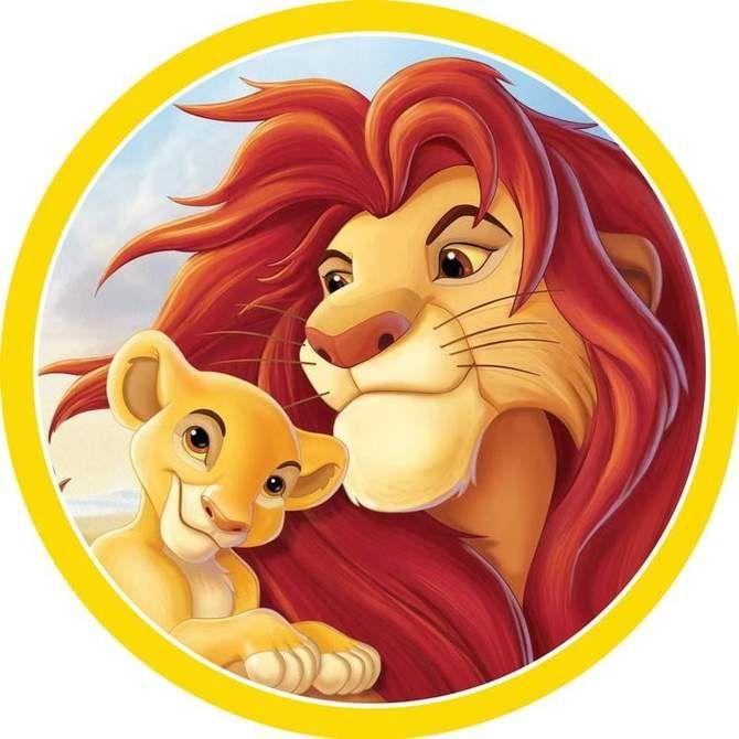 The Lion King Simba Kiara Edible Cake Image Lion King Pictures Lion King Images Lion King Party