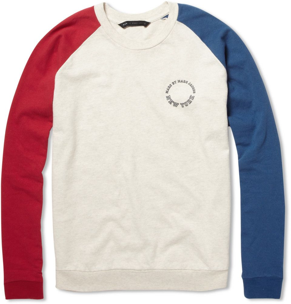 Marc By Marc Jacobs Varsity Cotton Jersey Sweatshirt Mens Sweatshirts Menswear Sweatshirts [ 1002 x 960 Pixel ]