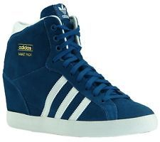 New Adidas Sneaker Trainers Women's Originals Basket Professional Wedge Heel
