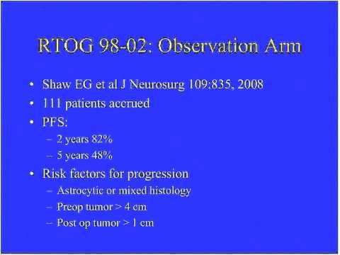 Low Grade Gliomas To Treat When To Treat Or Not To Treat That