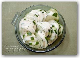 Striped Cucumber Salad