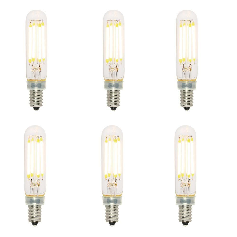 40 Watt Equivalent T6 Dimmable Filament Led Light Bulb Soft White