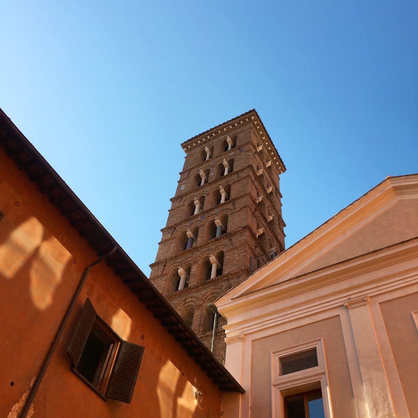 Campanile, Basilique San Silvestro - Avr 2016 ©ROME Pratique