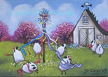 Would LOVE to see my wee flock doing this on May Day.