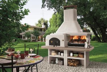 Außenküche Mit Pizzaofen : Palazzetti grillkamin gargano 3 mit pizzaofen komplett set